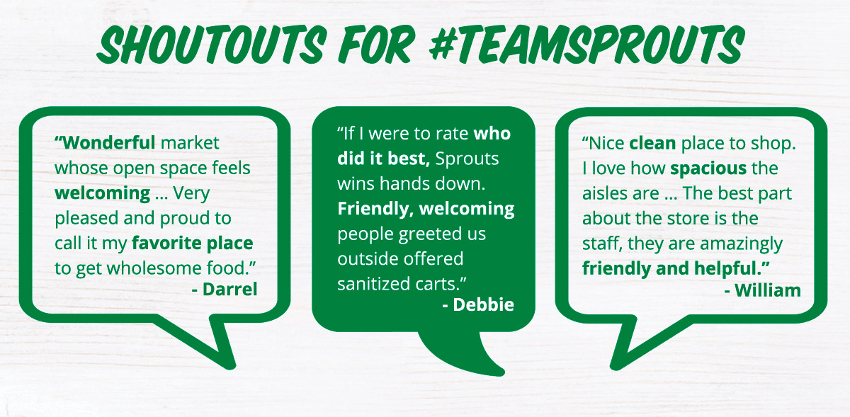 Shoutouts for #TeamSprouts