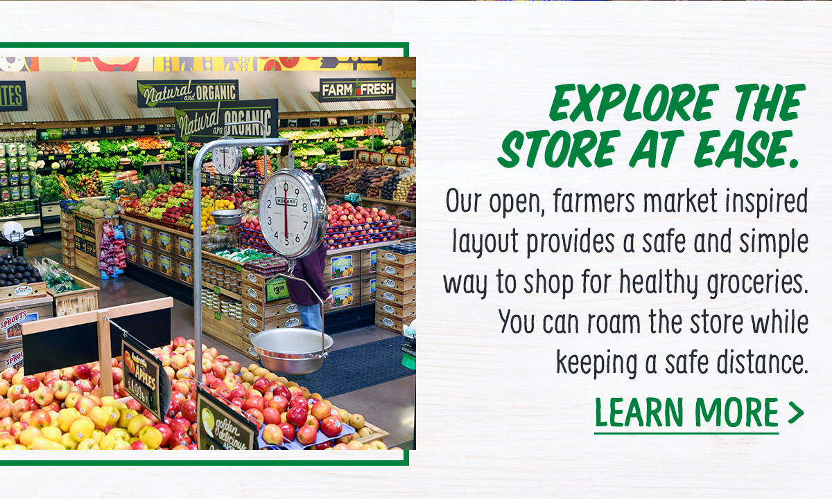 Explore the store at ease.
