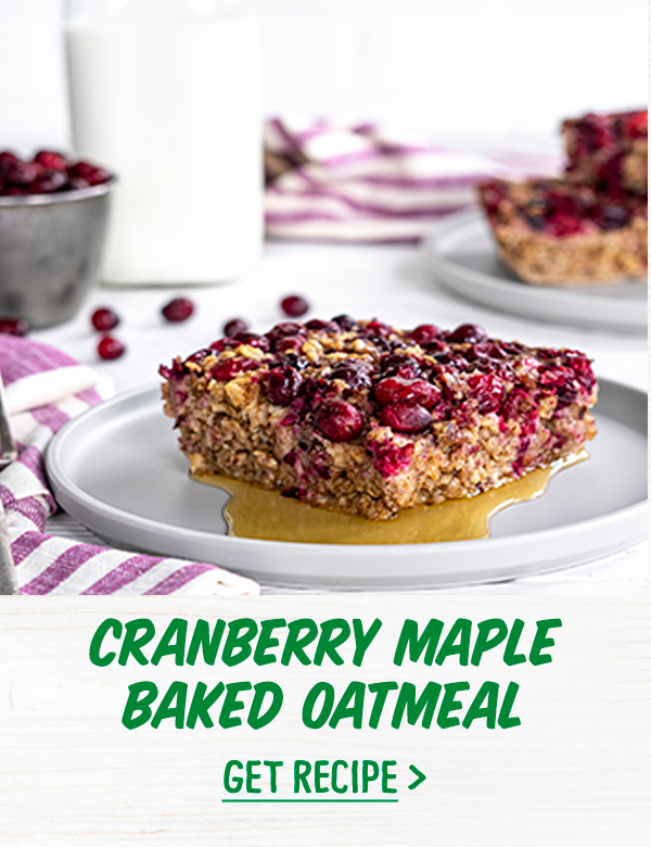 Cranberry Maple Baked Oatmeal