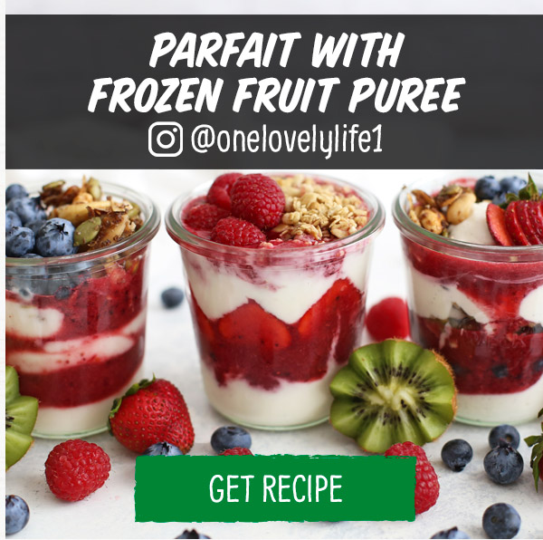 Parfait with Frozen Fruit Puree